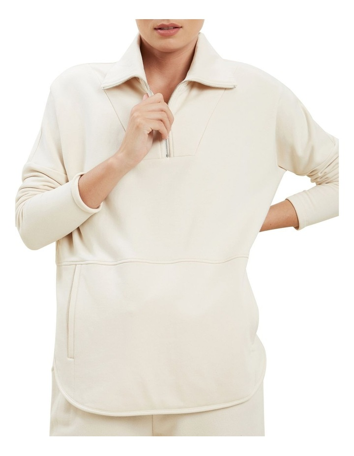 Collared Terry Sweater image 1