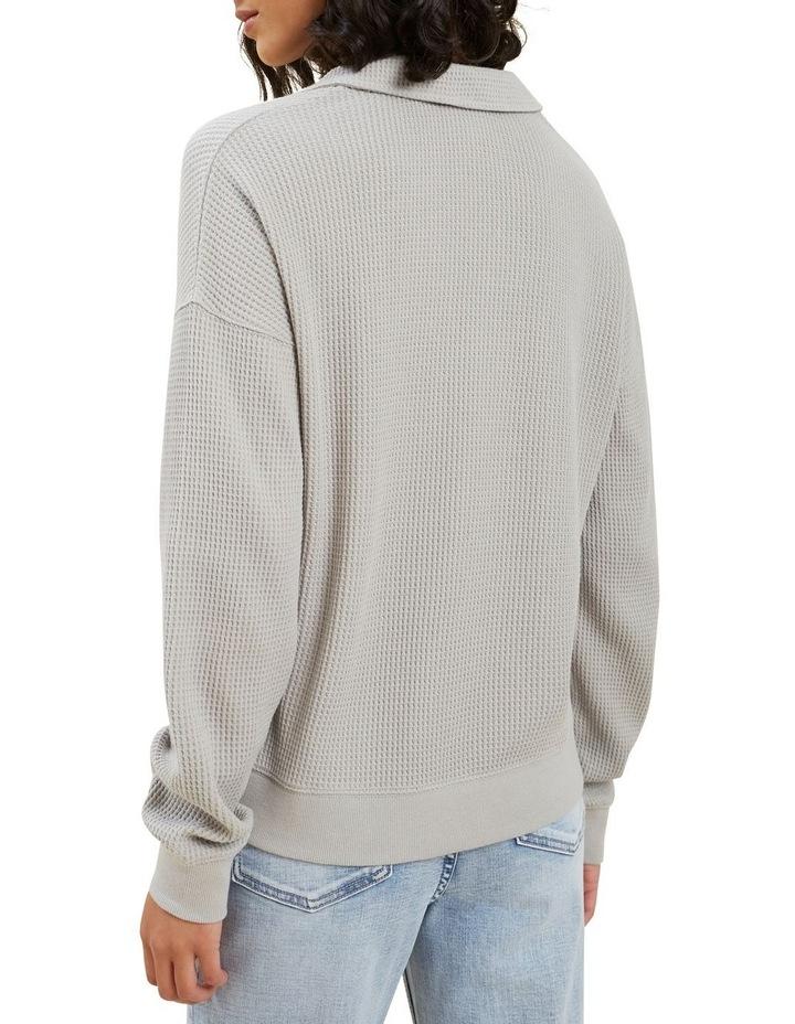 Waffle Polo Sweater image 3