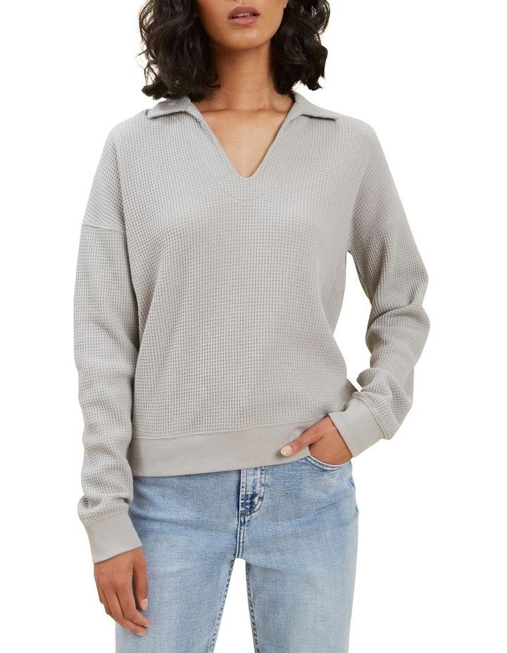 Waffle Polo Sweater image 4