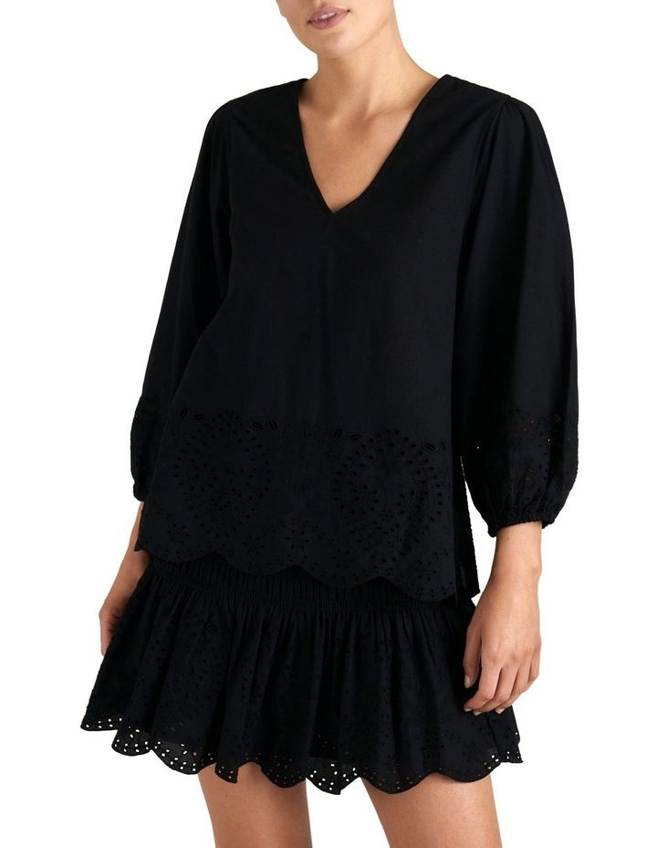 Puff Sleeve Broderie Top image 1