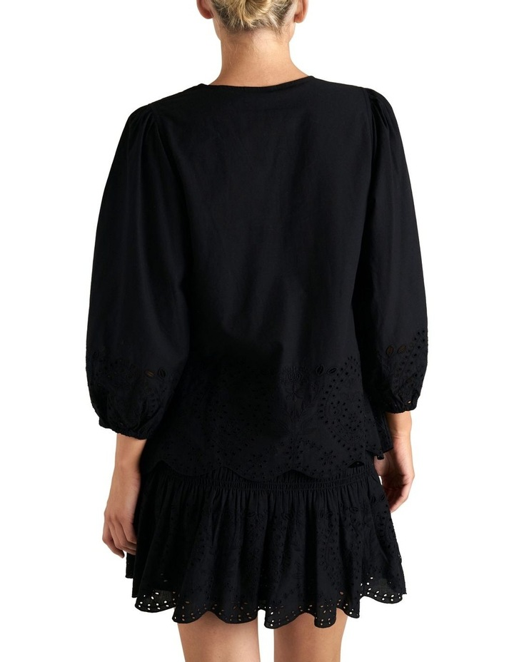 Puff Sleeve Broderie Top image 3