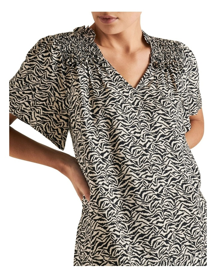 Zebra Shirred Blouse image 4