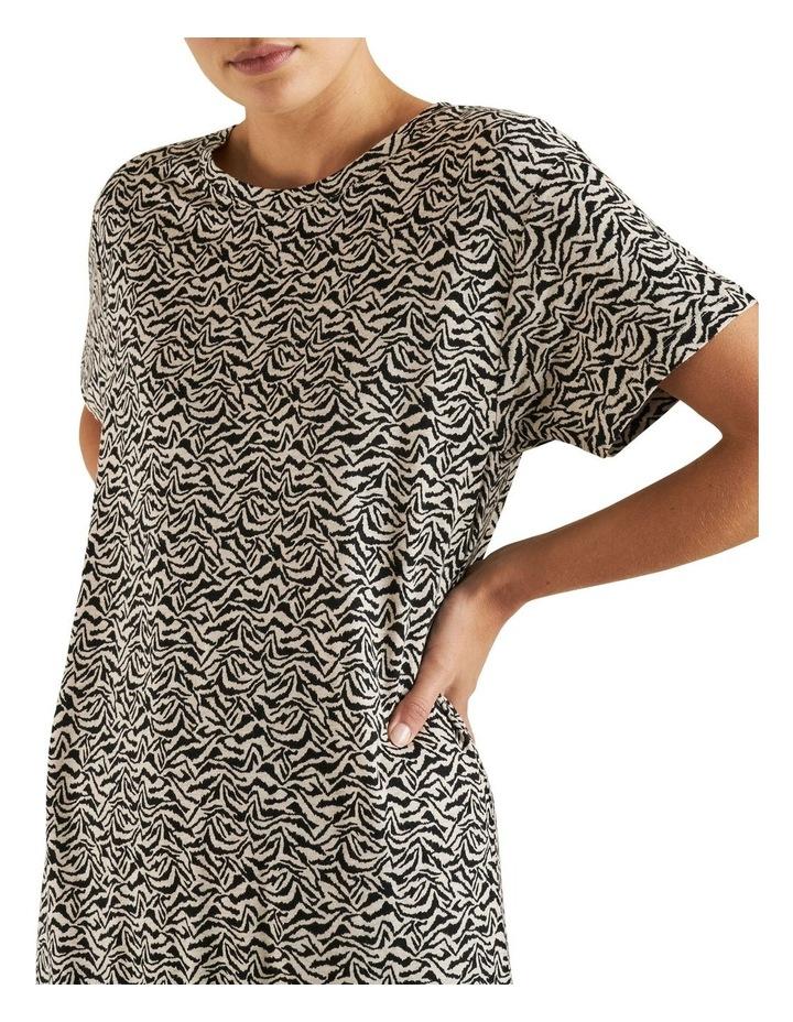 Animal Print Tee Dress image 4