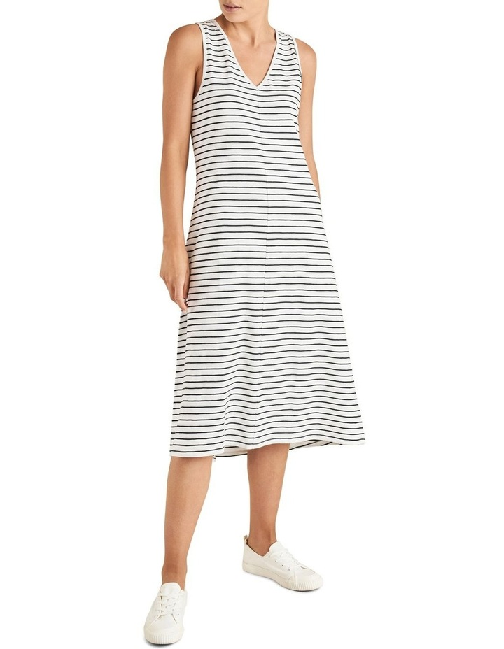 Stripe Sleeveless Jersey Dress image 1
