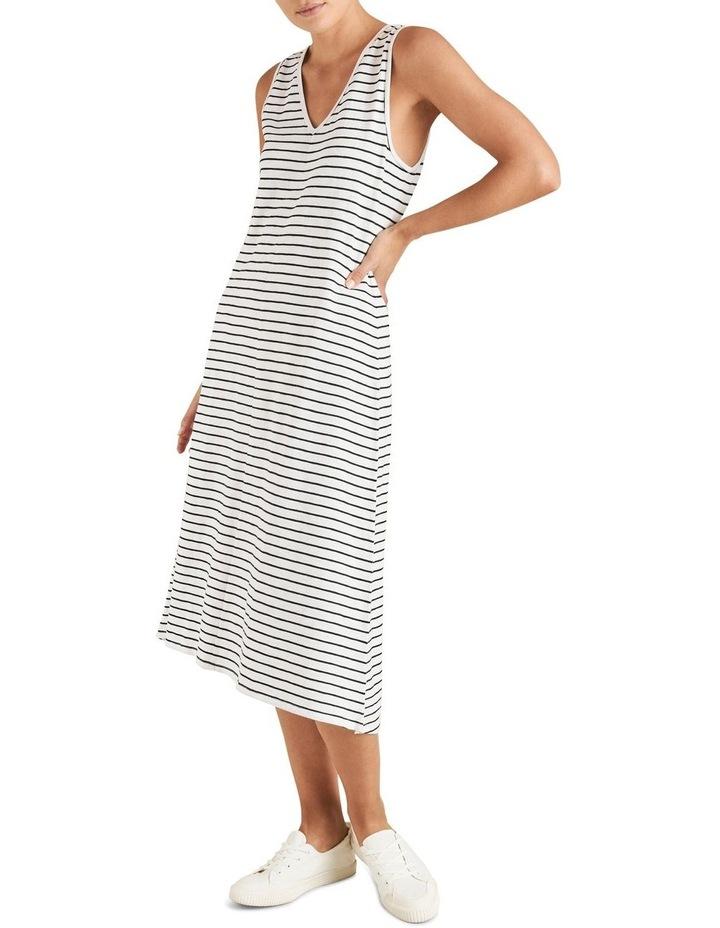 Stripe Sleeveless Jersey Dress image 2