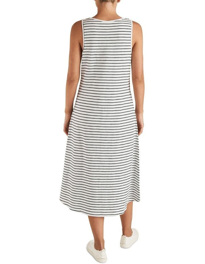 Stripe Sleeveless Jersey Dress image 3