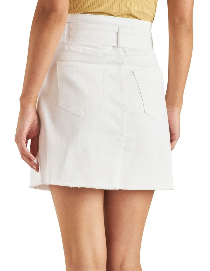 Belted Denim Mini Skirt image 3