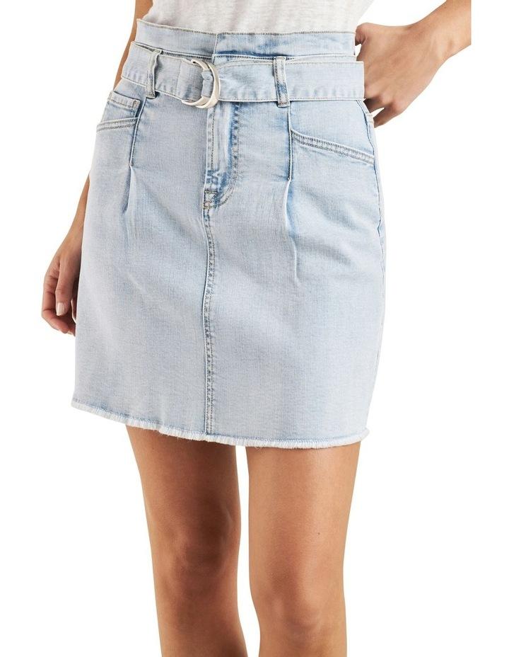Belted Denim Mini Skirt image 1