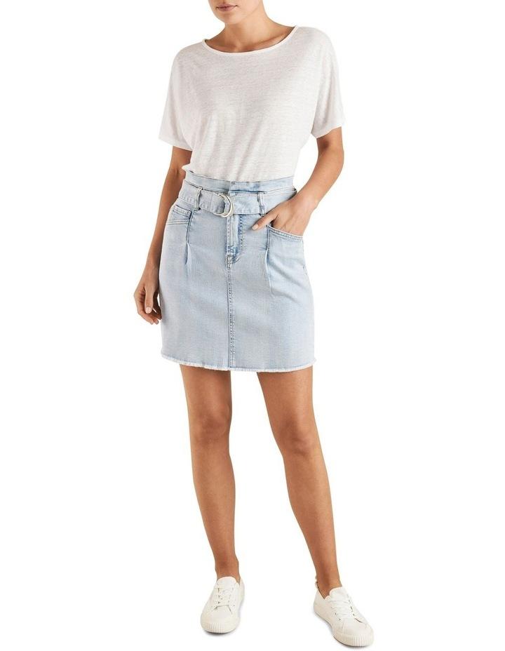 Belted Denim Mini Skirt image 2