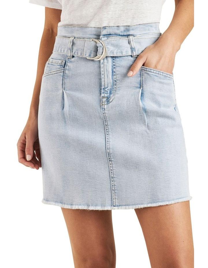 Belted Denim Mini Skirt image 4