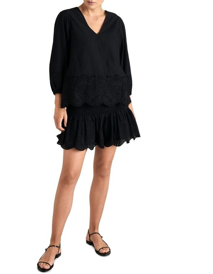 Broderie Hem Mini Skirt image 2