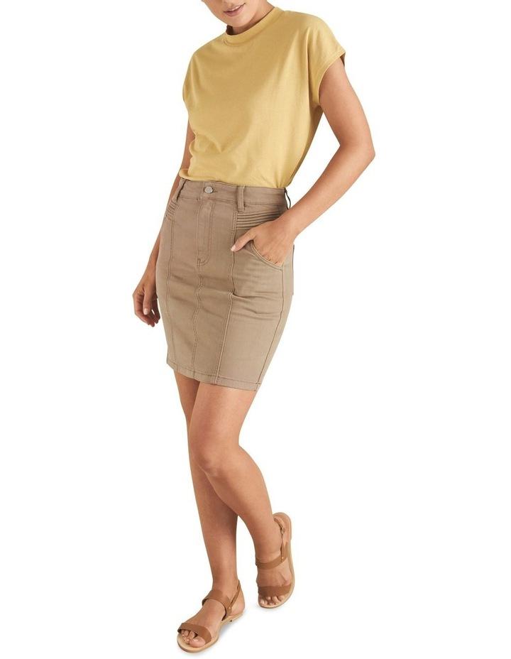 Denim Pintuck Pocket Skirt image 2