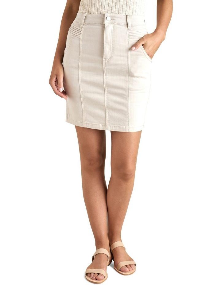 Denim Pintuck Pocket Skirt image 1