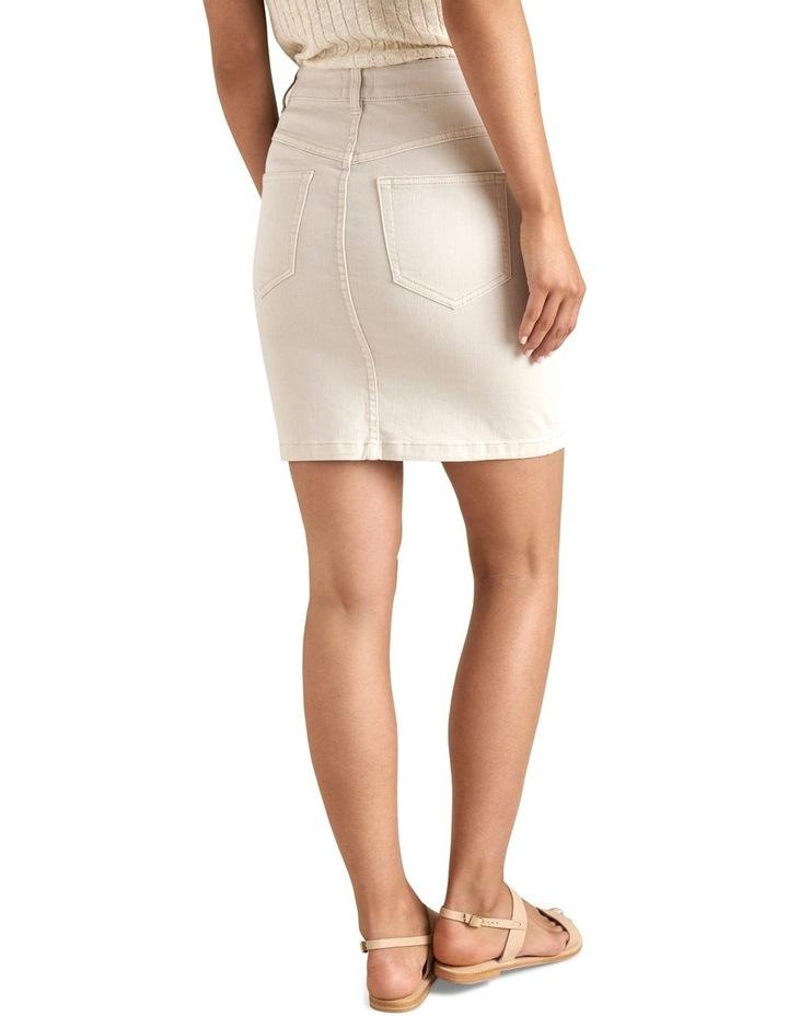 Denim Pintuck Pocket Skirt image 3