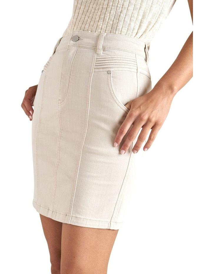Denim Pintuck Pocket Skirt image 4