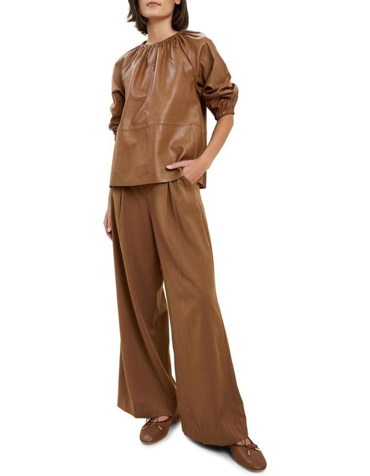 Gathered Leather Blouse image 2