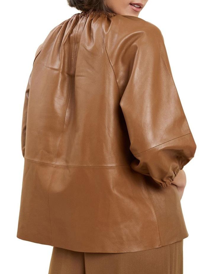 Gathered Leather Blouse image 3