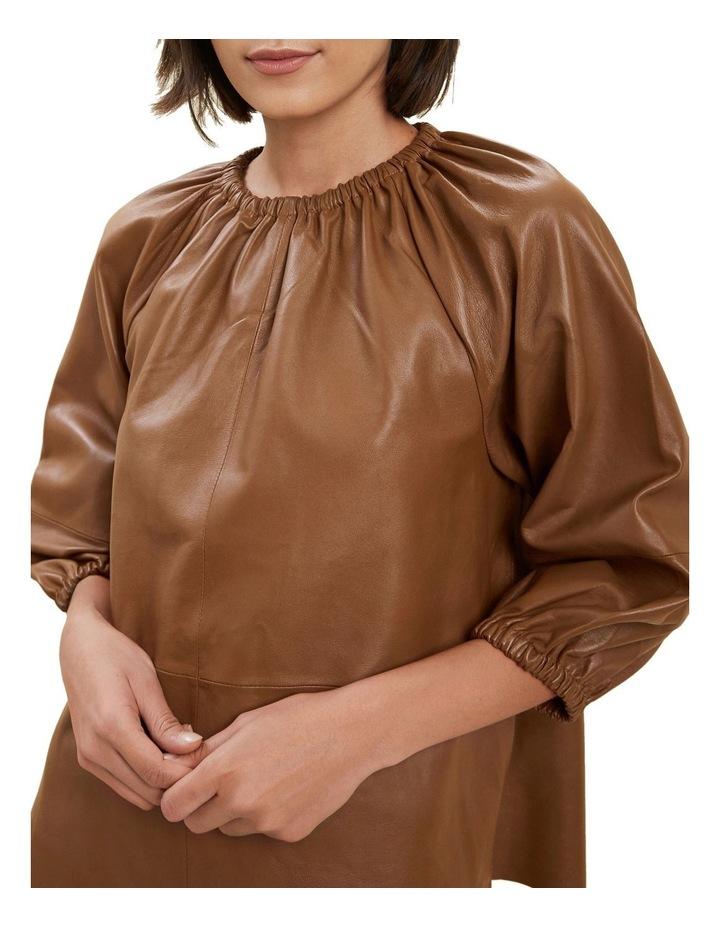 Gathered Leather Blouse image 4
