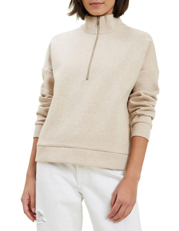 Zip Collared Sweater image 1