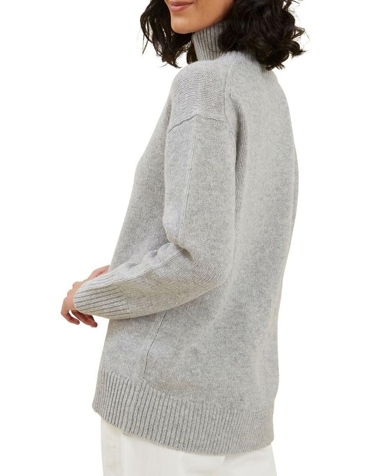 High Neck Wool Sweater image 3