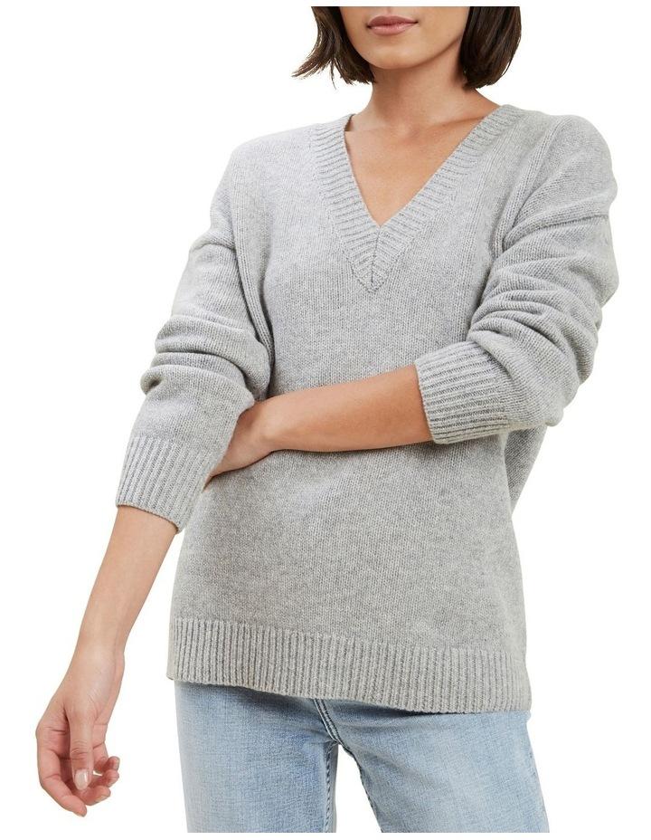 V Neck Wool Sweater image 1
