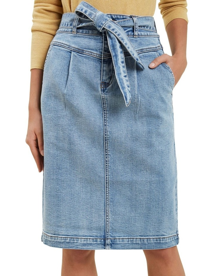 Denim Tie Waist Skirt image 1