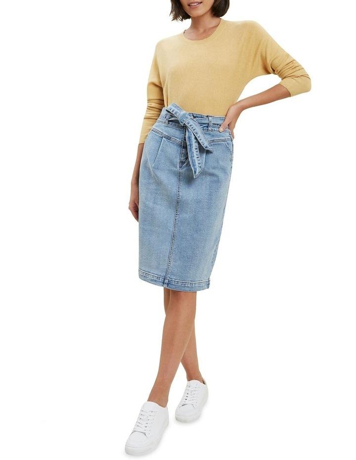 Denim Tie Waist Skirt image 2