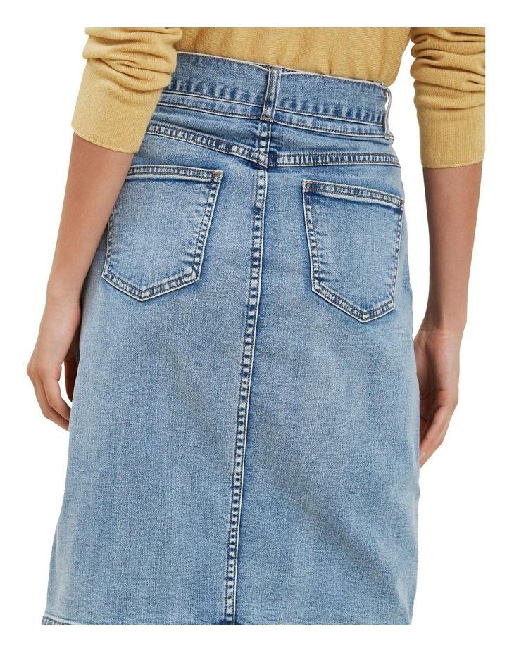 Denim Tie Waist Skirt image 3