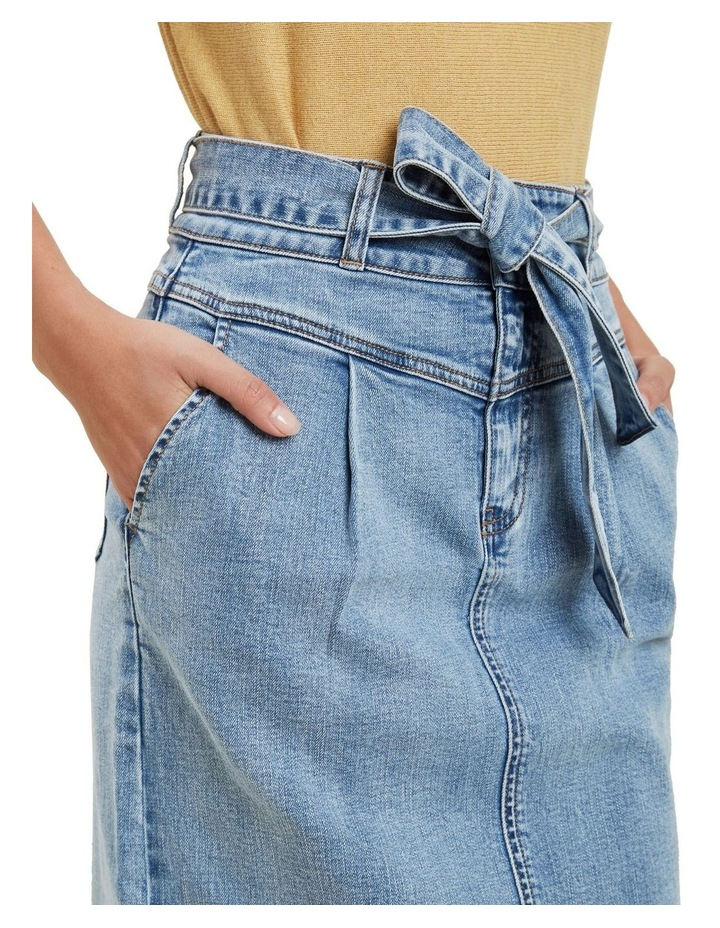 Denim Tie Waist Skirt image 4