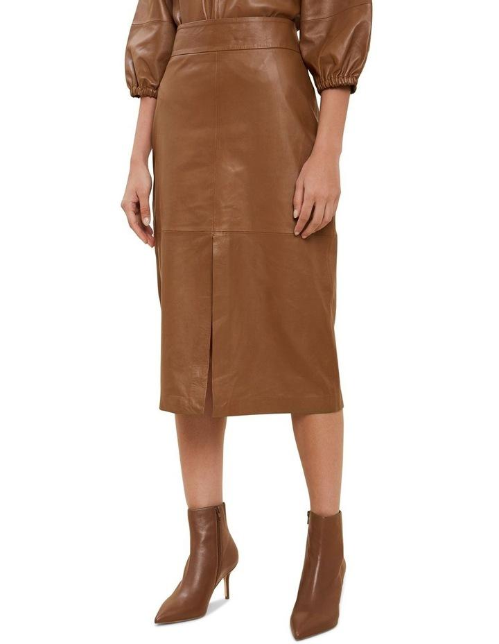 Leather Split Front Skirt image 1