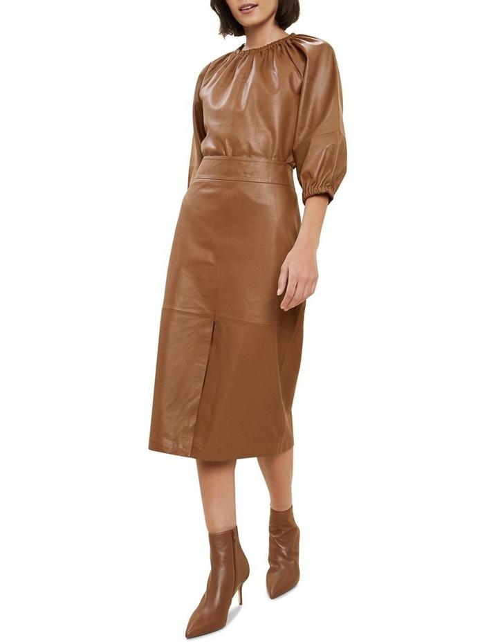 Leather Split Front Skirt image 2