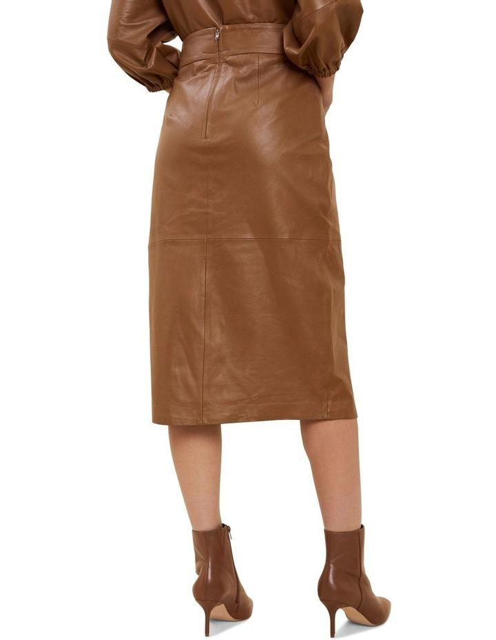 Leather Split Front Skirt image 3