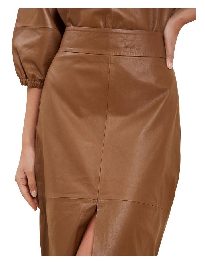 Leather Split Front Skirt image 4