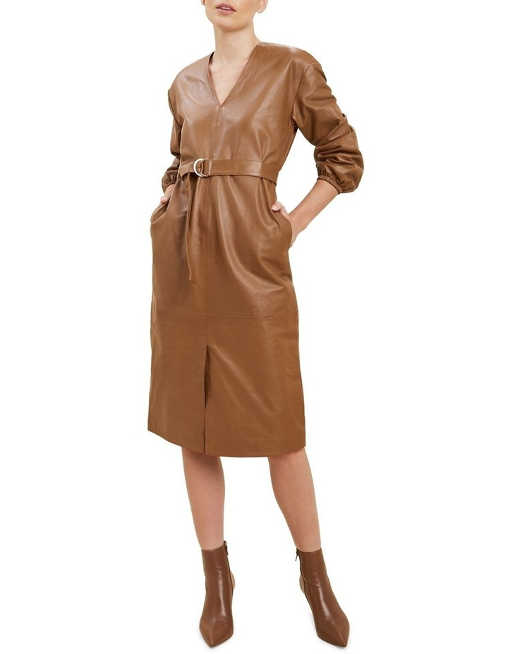 Belted Leather Dress image 2