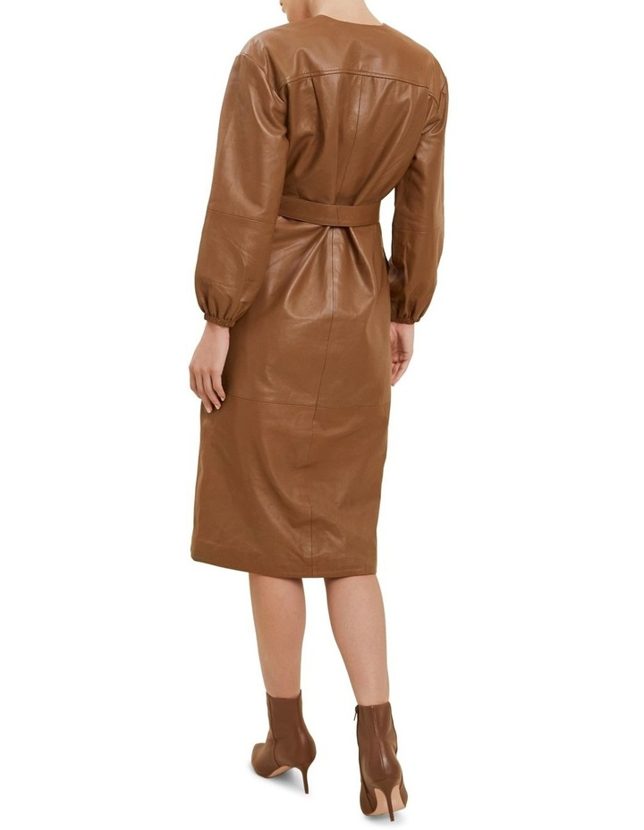 Belted Leather Dress image 3