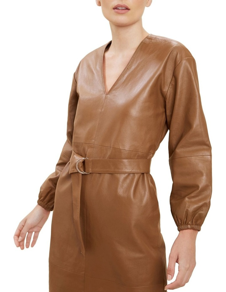 Belted Leather Dress image 4