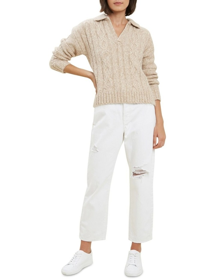 Cable Knit Polo Sweater image 2