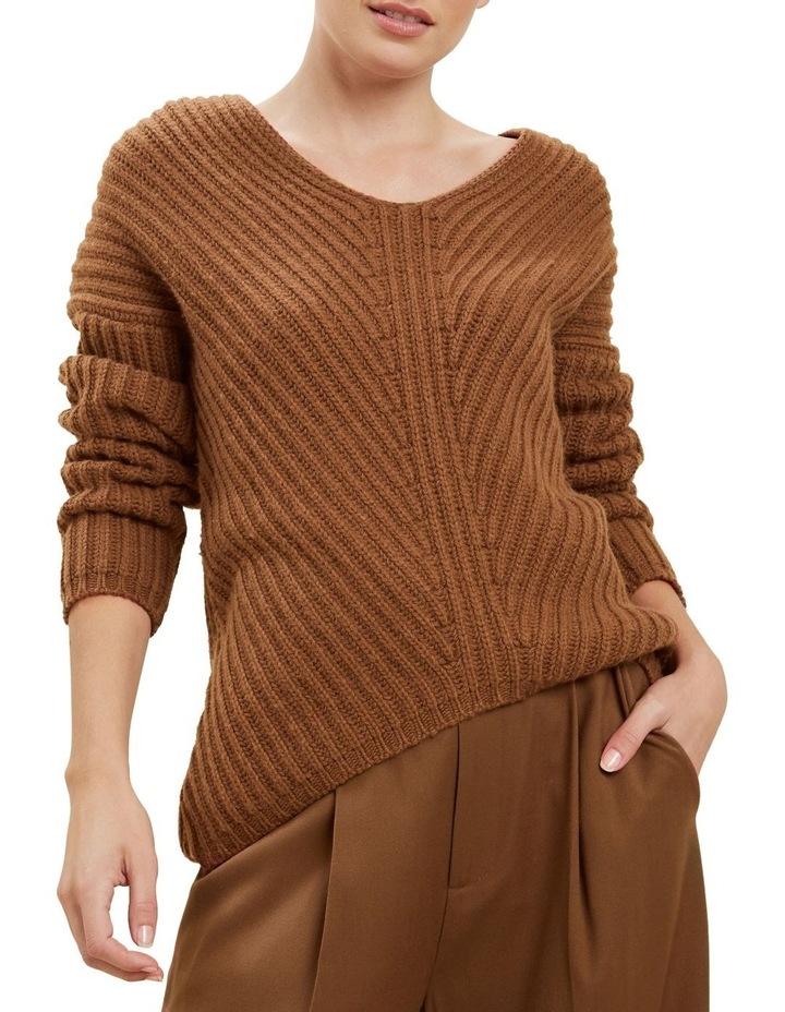 V Neck Rib Sweater image 1