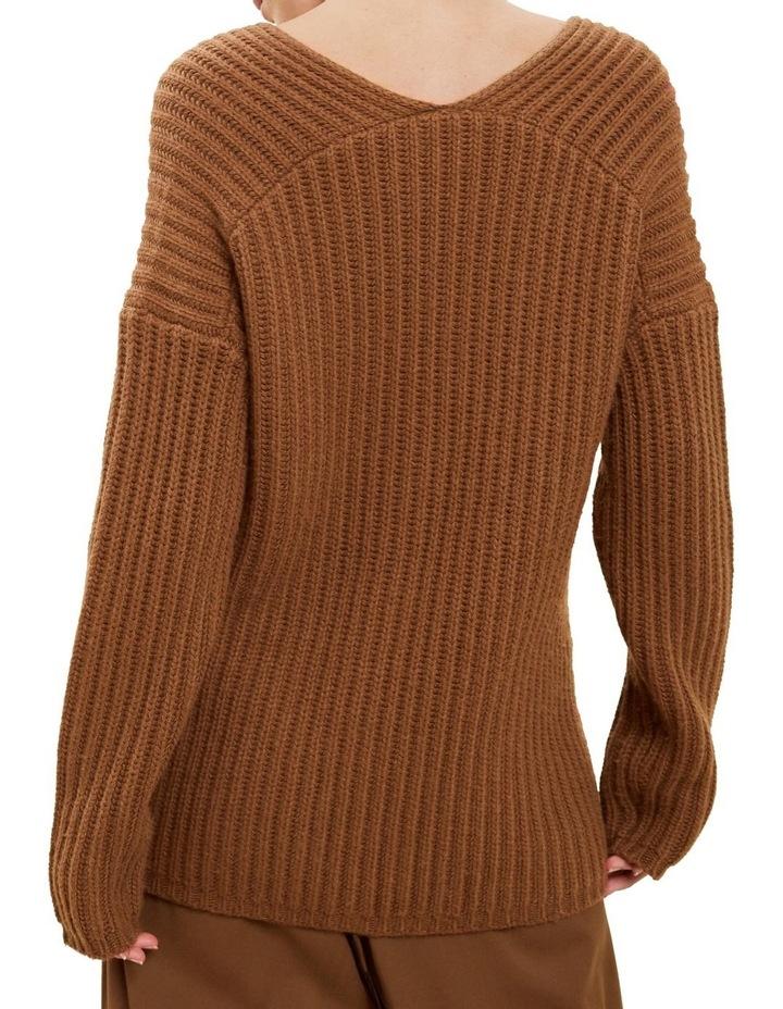 V Neck Rib Sweater image 3