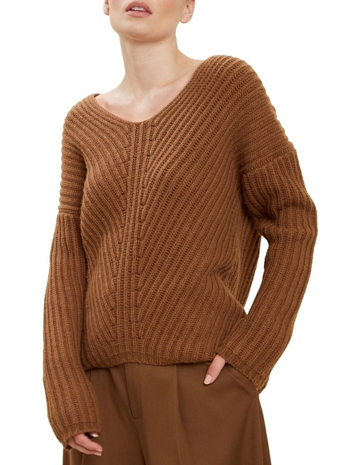 V Neck Rib Sweater image 4