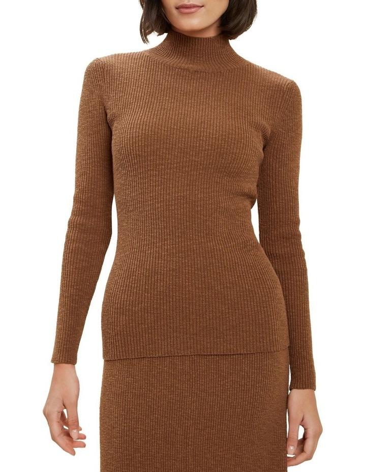 High Neck Rib Sweater image 1