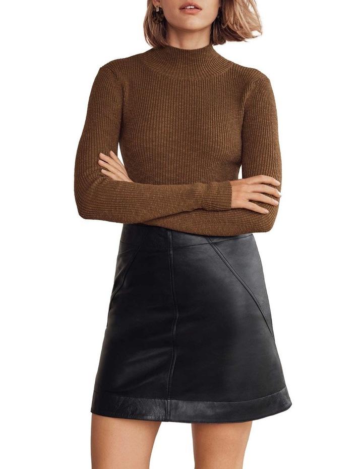 High Neck Rib Sweater image 4