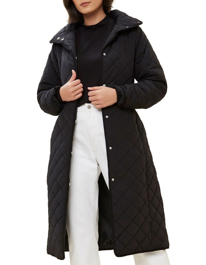Longline Quilted Puffer Jacket image 1