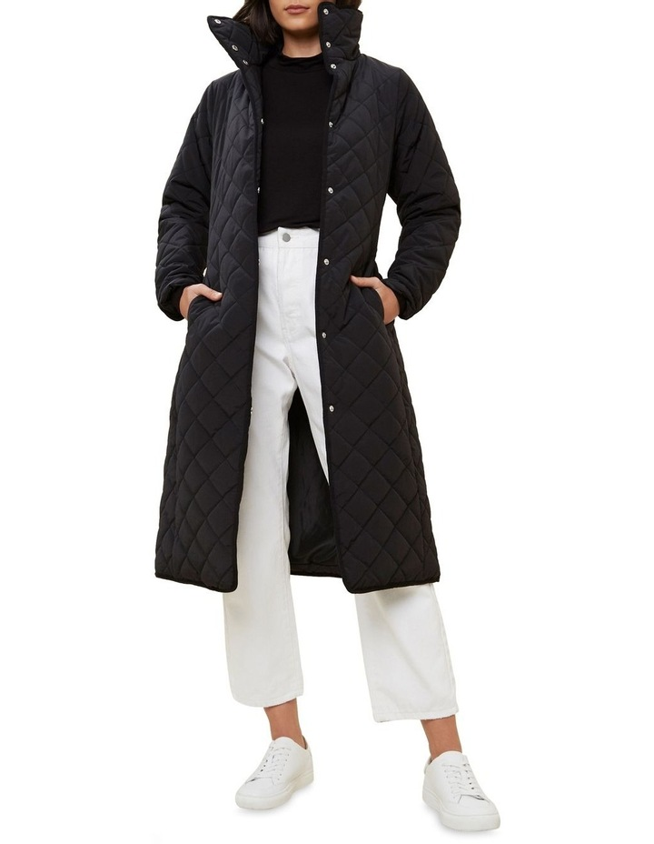 Longline Quilted Puffer Jacket image 2