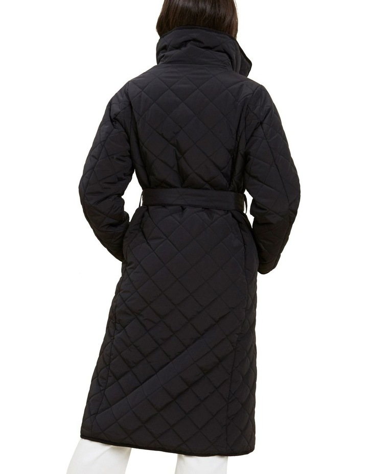 Longline Quilted Puffer Jacket image 3