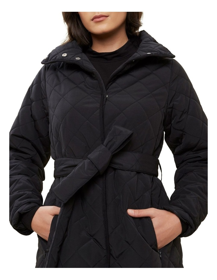 Longline Quilted Puffer Jacket image 4
