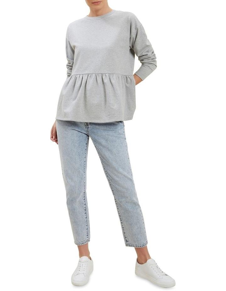 Babydoll Peplum Sweater image 2