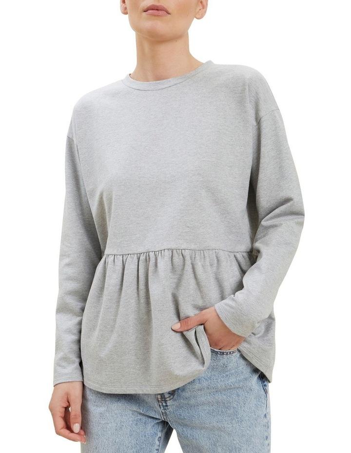 Babydoll Peplum Sweater image 4