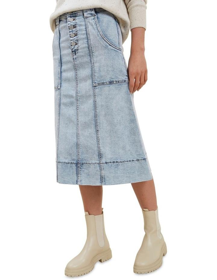 A Line Denim Midi Skirt image 1