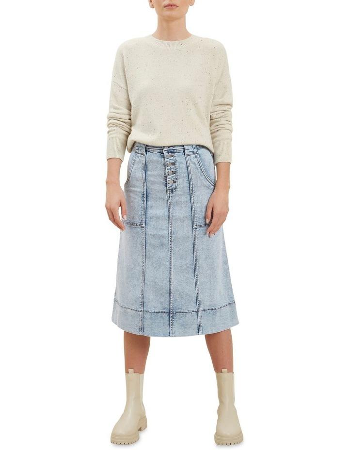 A Line Denim Midi Skirt image 2